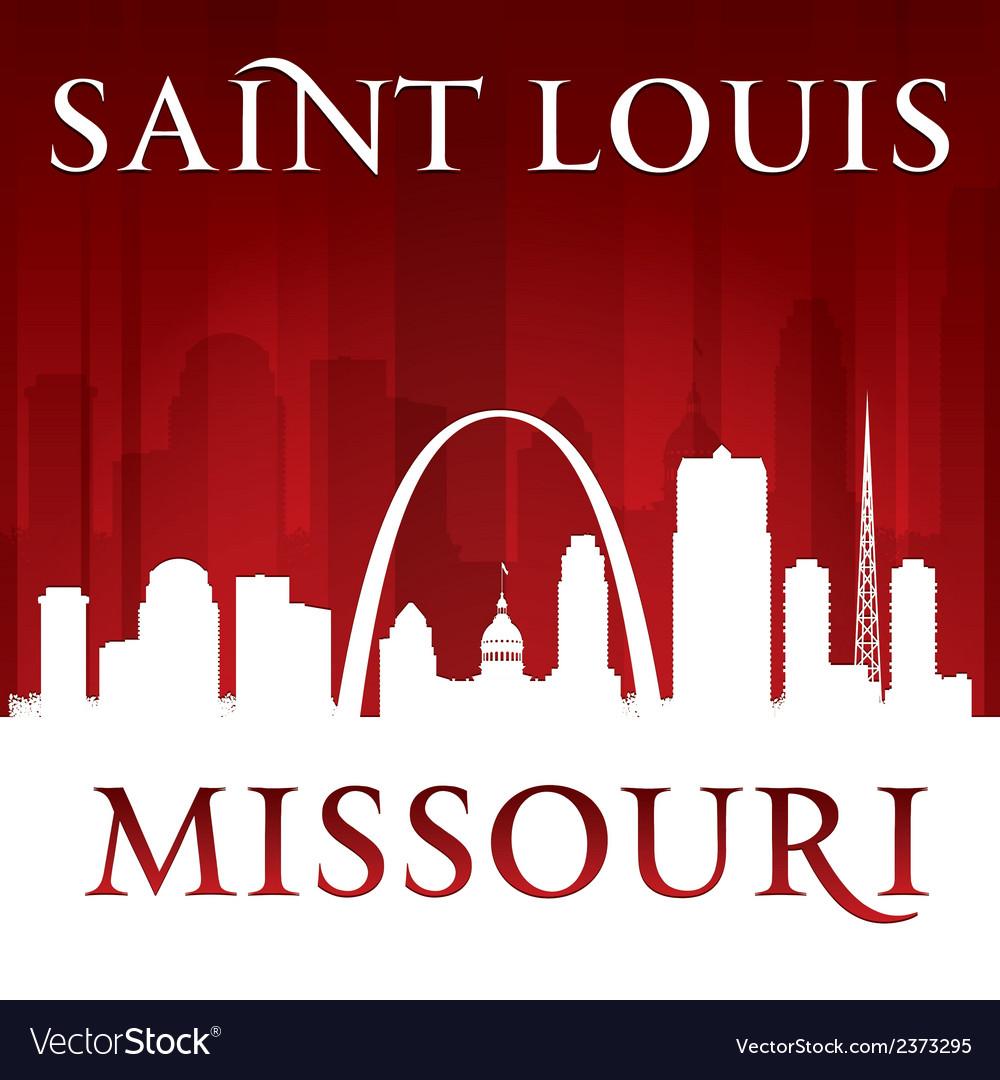 Saint louis missouri city skyline silhouette vector | Price: 1 Credit (USD $1)