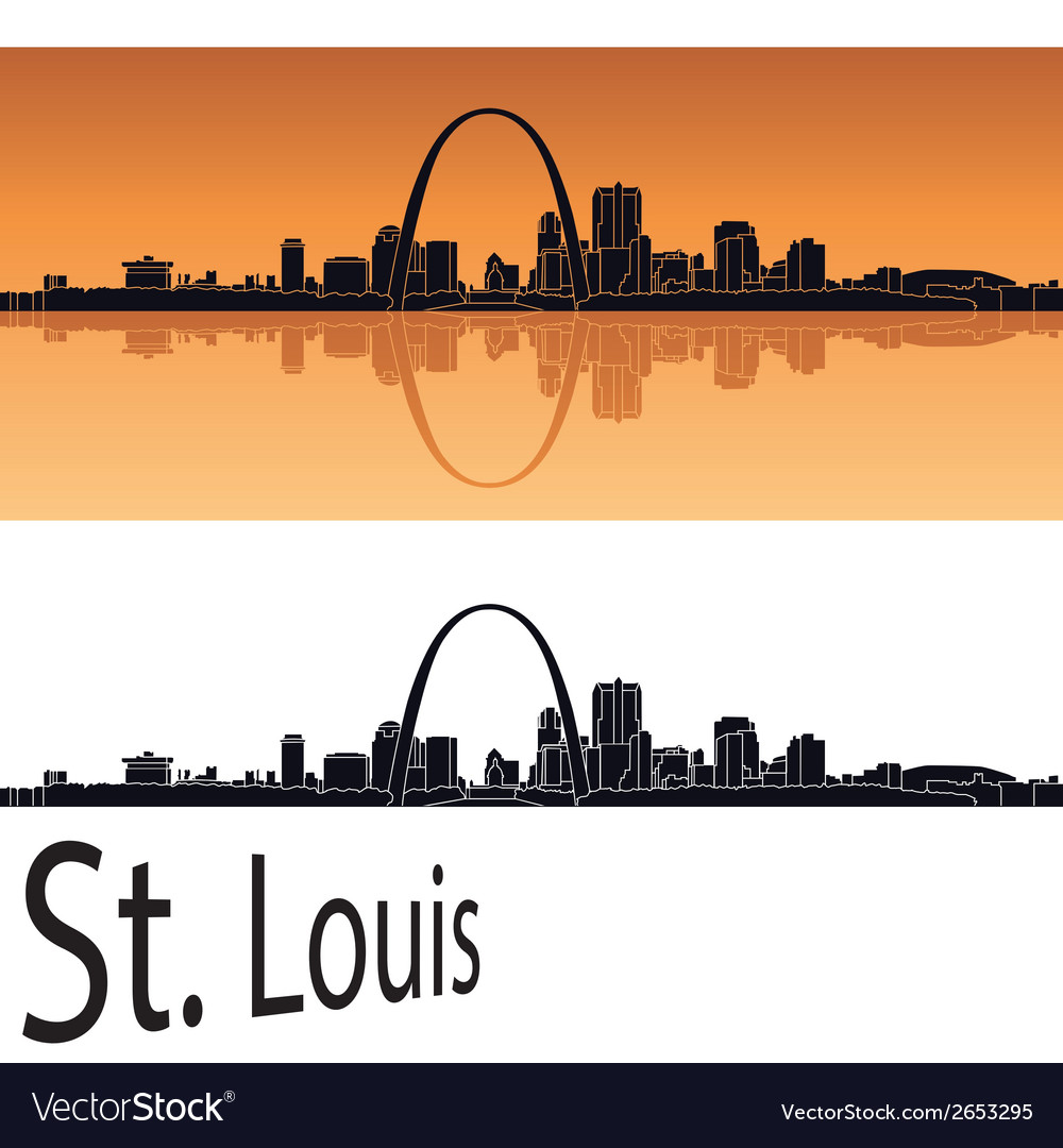 St louis skyline vector | Price: 1 Credit (USD $1)