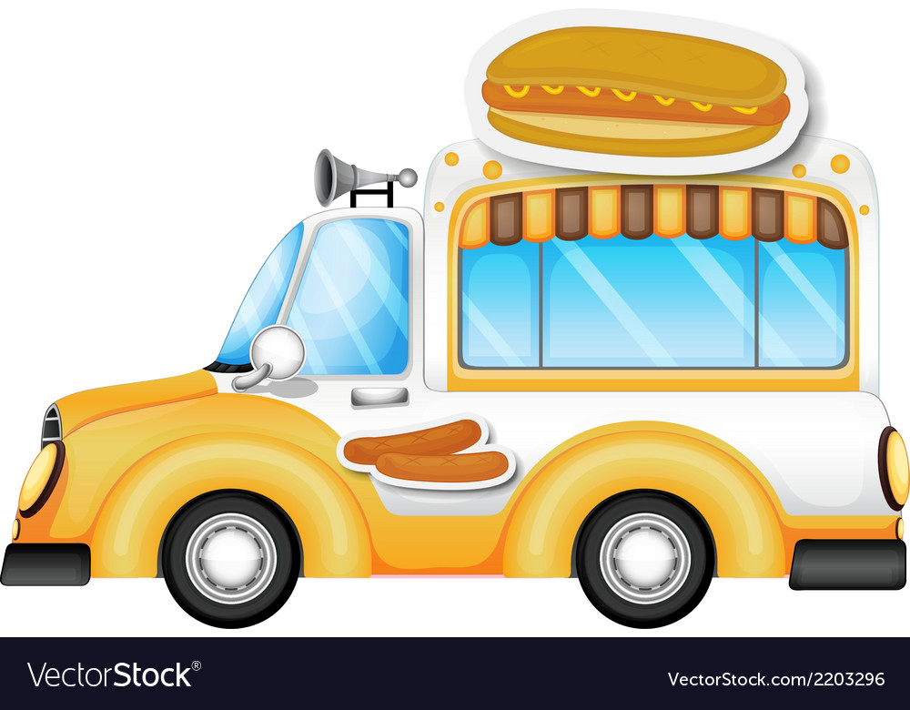A vehicle selling buns and hotdogs vector | Price: 1 Credit (USD $1)