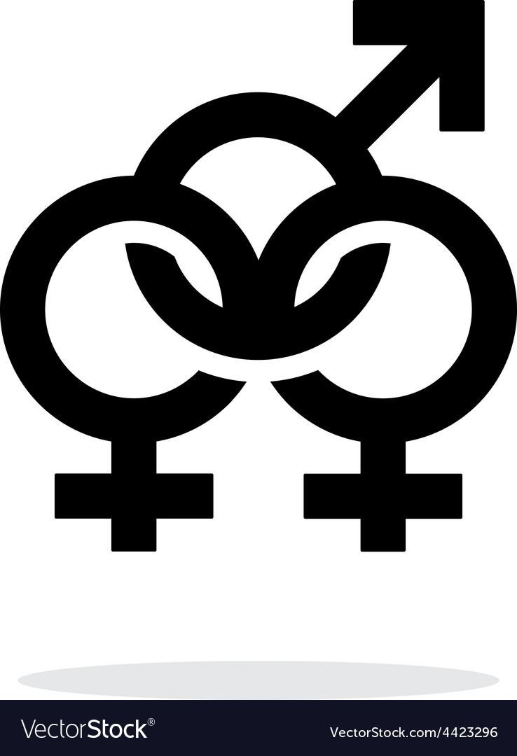 Bisexual icon on white background vector | Price: 1 Credit (USD $1)
