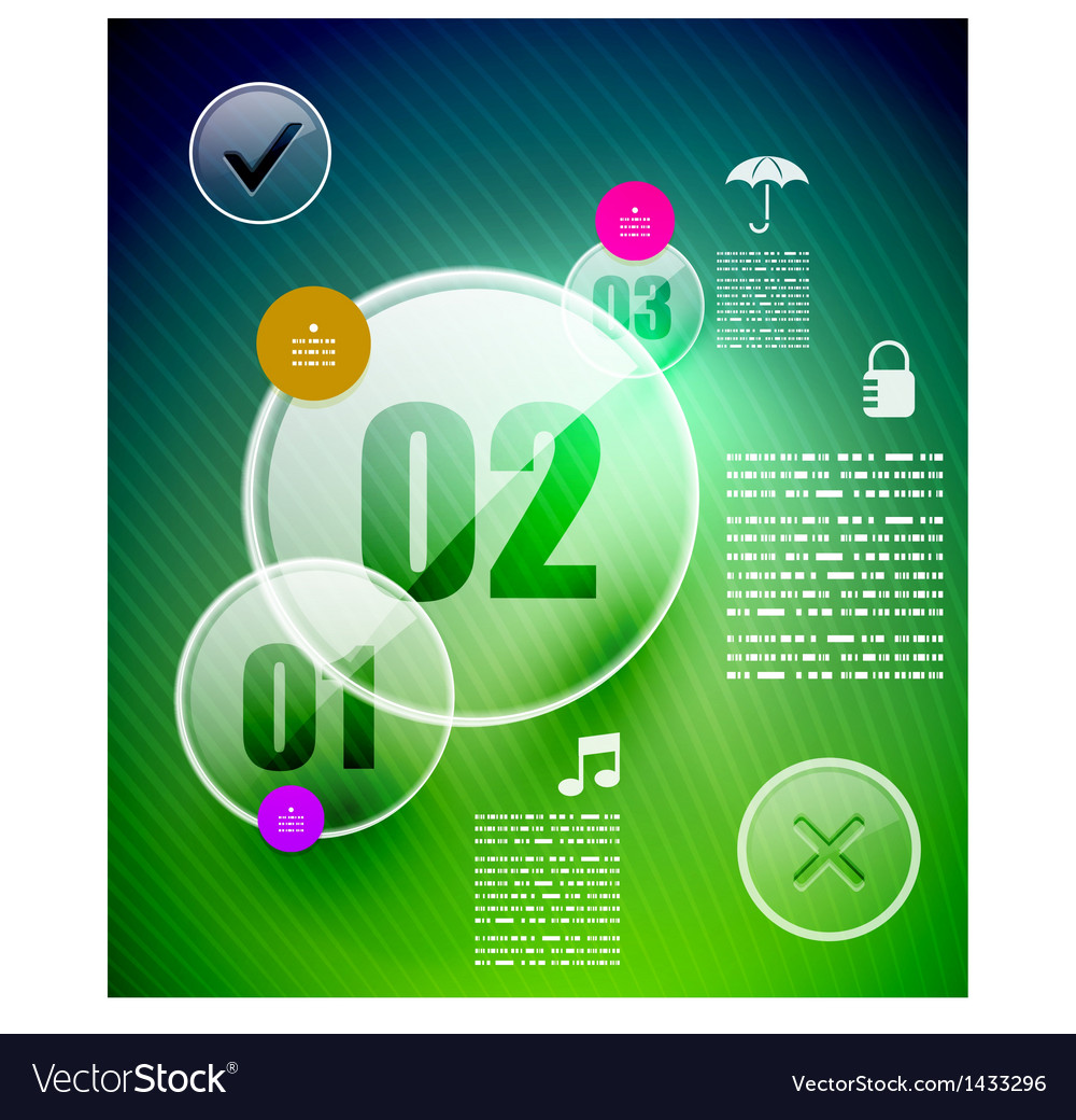 Glass circle infographic template vector | Price: 1 Credit (USD $1)
