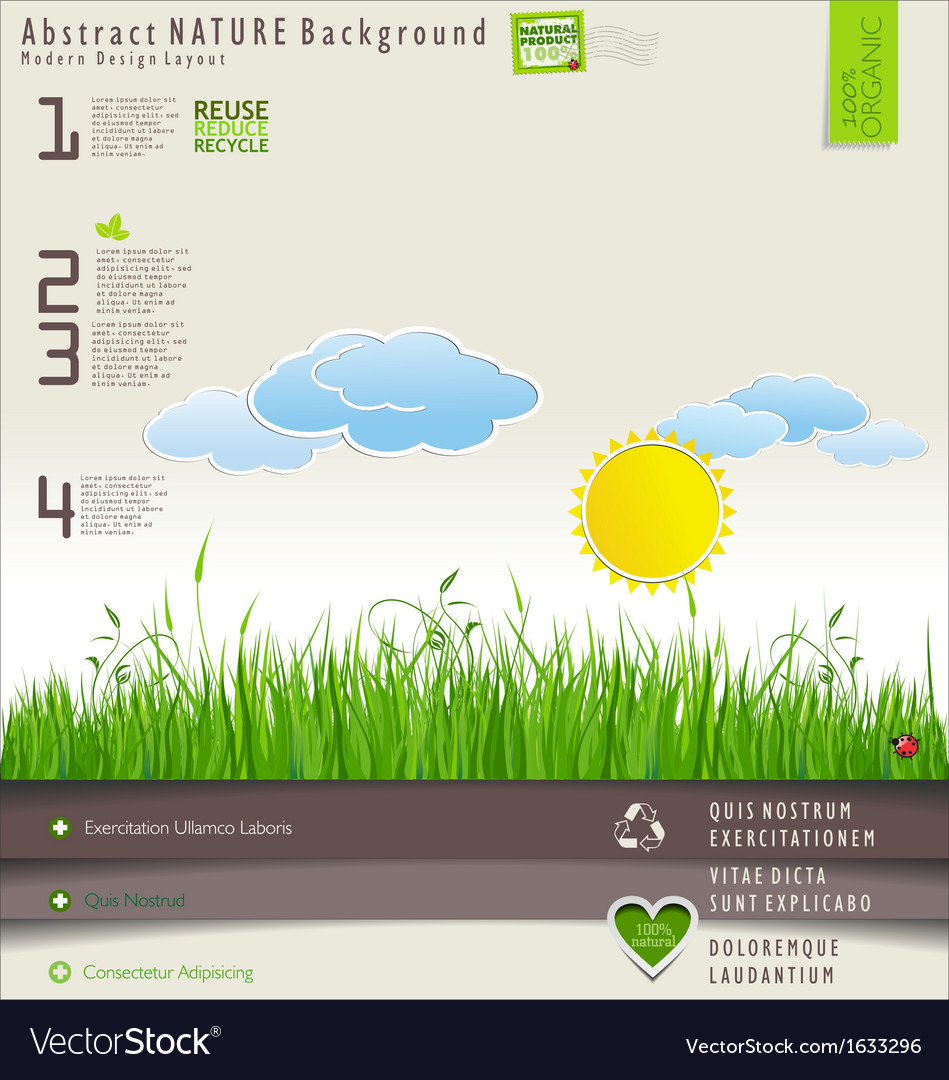 Modern nature design layout vector | Price: 1 Credit (USD $1)