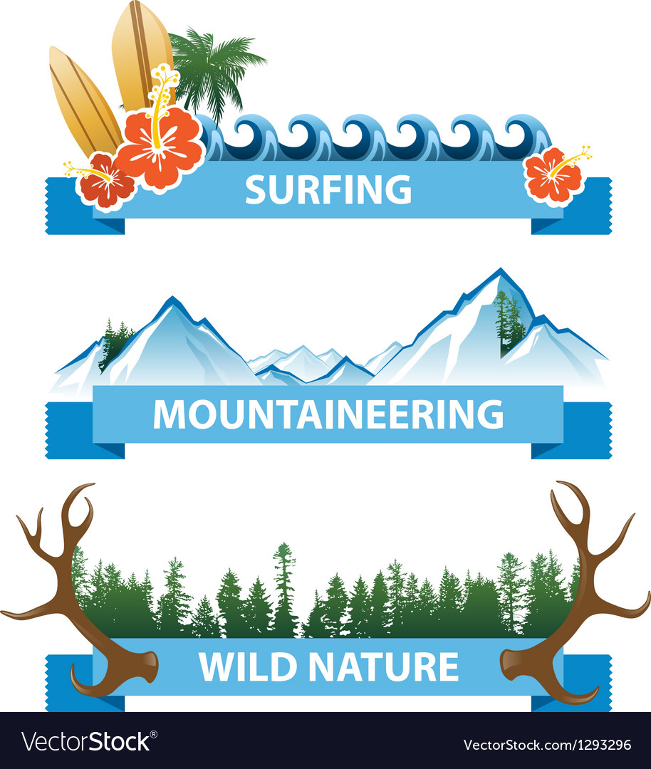Nature banners vector | Price: 1 Credit (USD $1)