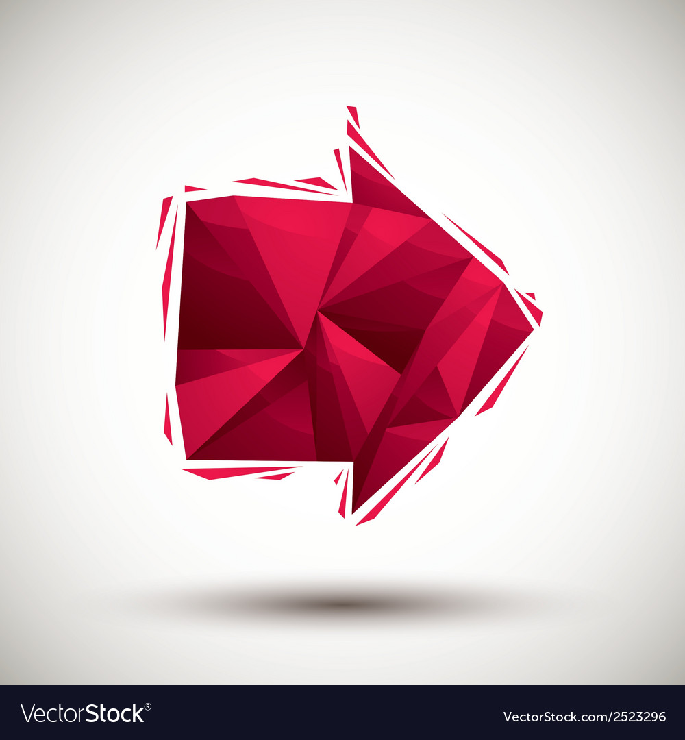 Red arrow geometric icon made in 3d modern style vector | Price: 1 Credit (USD $1)