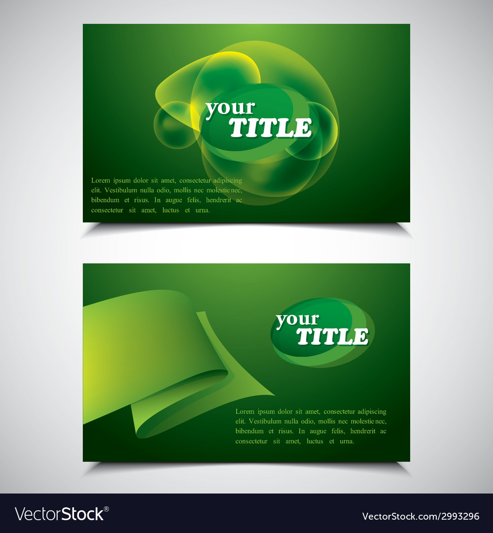 Set of green abstract business cards vector | Price: 1 Credit (USD $1)