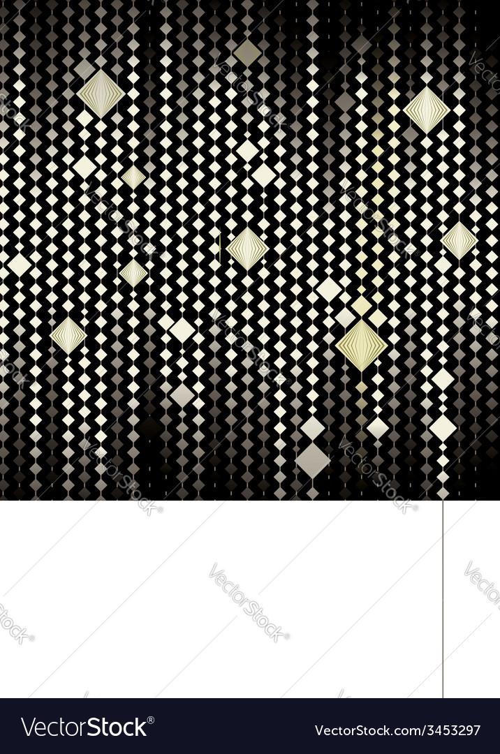 Abstract gold mosaic background vector | Price: 1 Credit (USD $1)