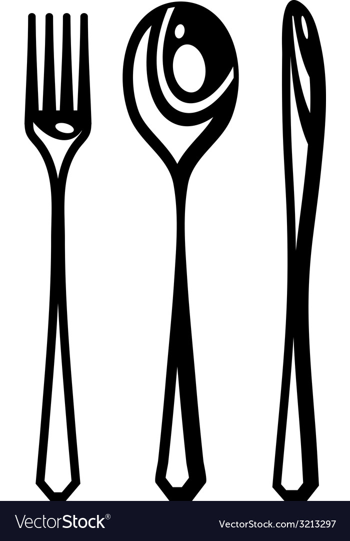Cutlery abstract vector | Price: 1 Credit (USD $1)