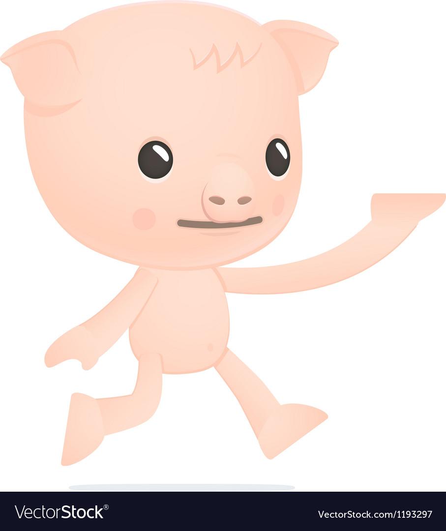 Funny cartoon pig vector | Price: 3 Credit (USD $3)