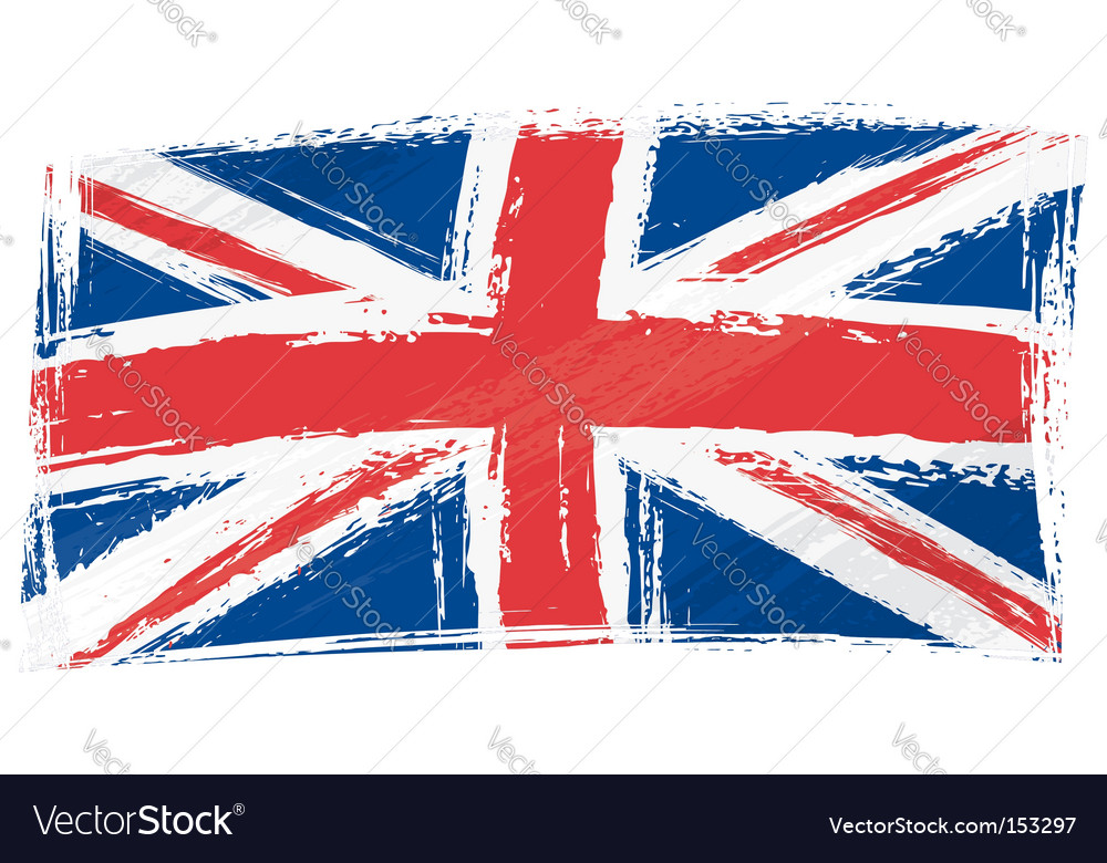 Grunge united kingdom flag vector | Price: 1 Credit (USD $1)