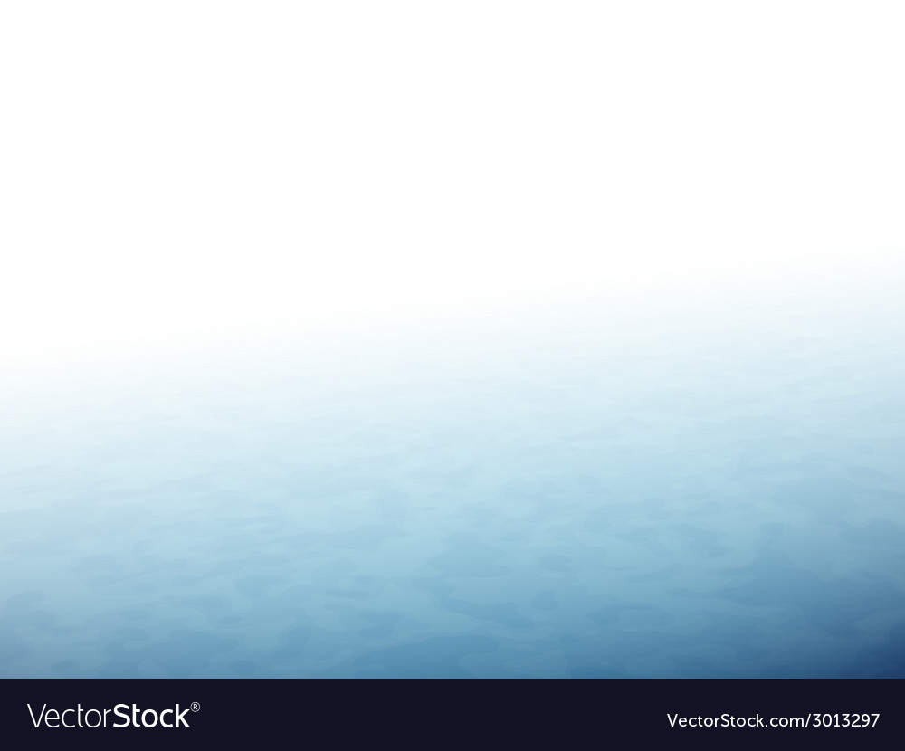 The horizon with fog blue sea or ocean vector | Price: 1 Credit (USD $1)