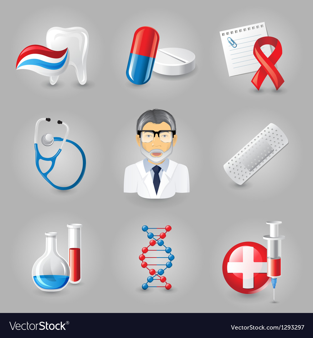 New medical icons vector | Price: 1 Credit (USD $1)