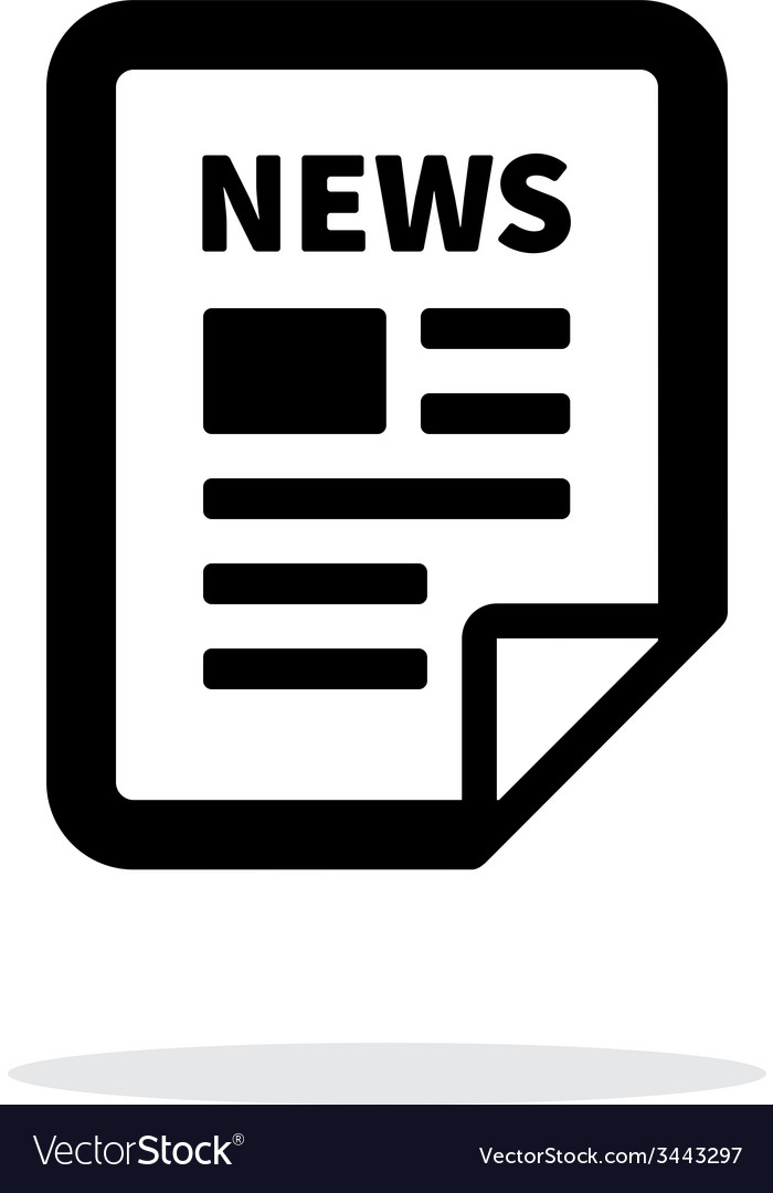 News file icon on white background vector | Price: 1 Credit (USD $1)