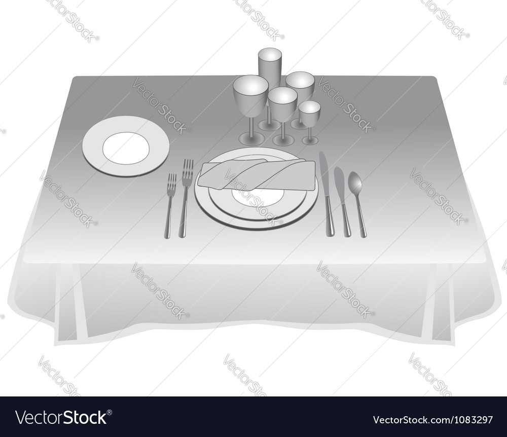Table layout vector | Price: 1 Credit (USD $1)