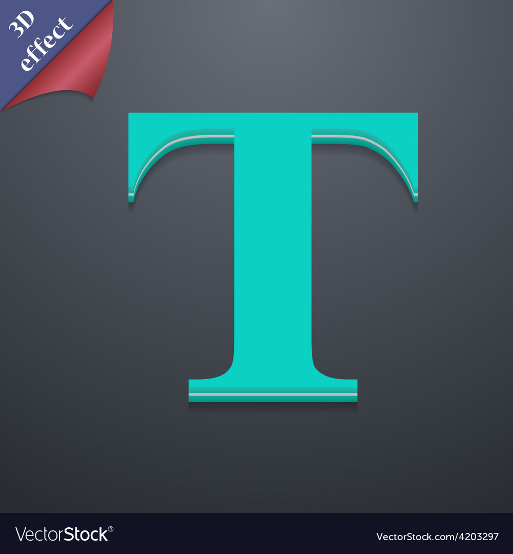 Text edit icon symbol 3d style trendy modern vector   Price: 1 Credit (USD $1)