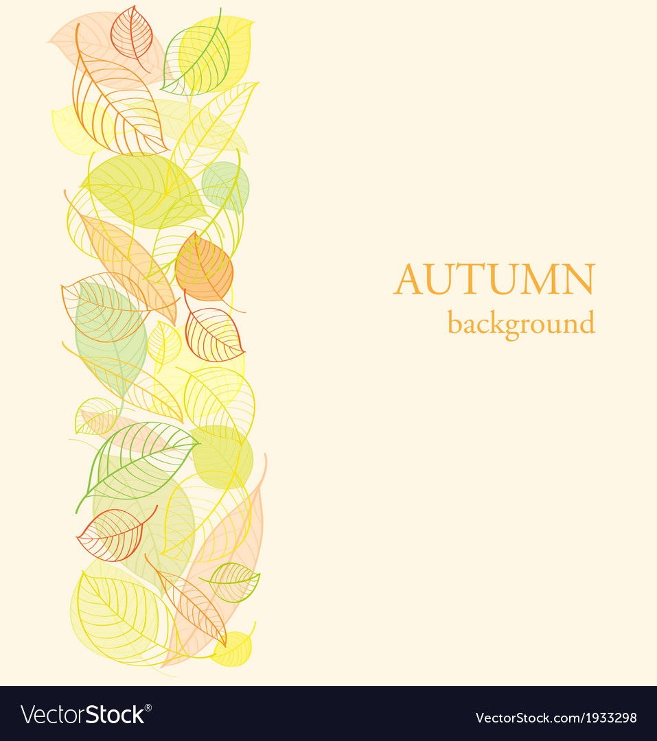 Background with border of autumn leaves vector   Price: 1 Credit (USD $1)