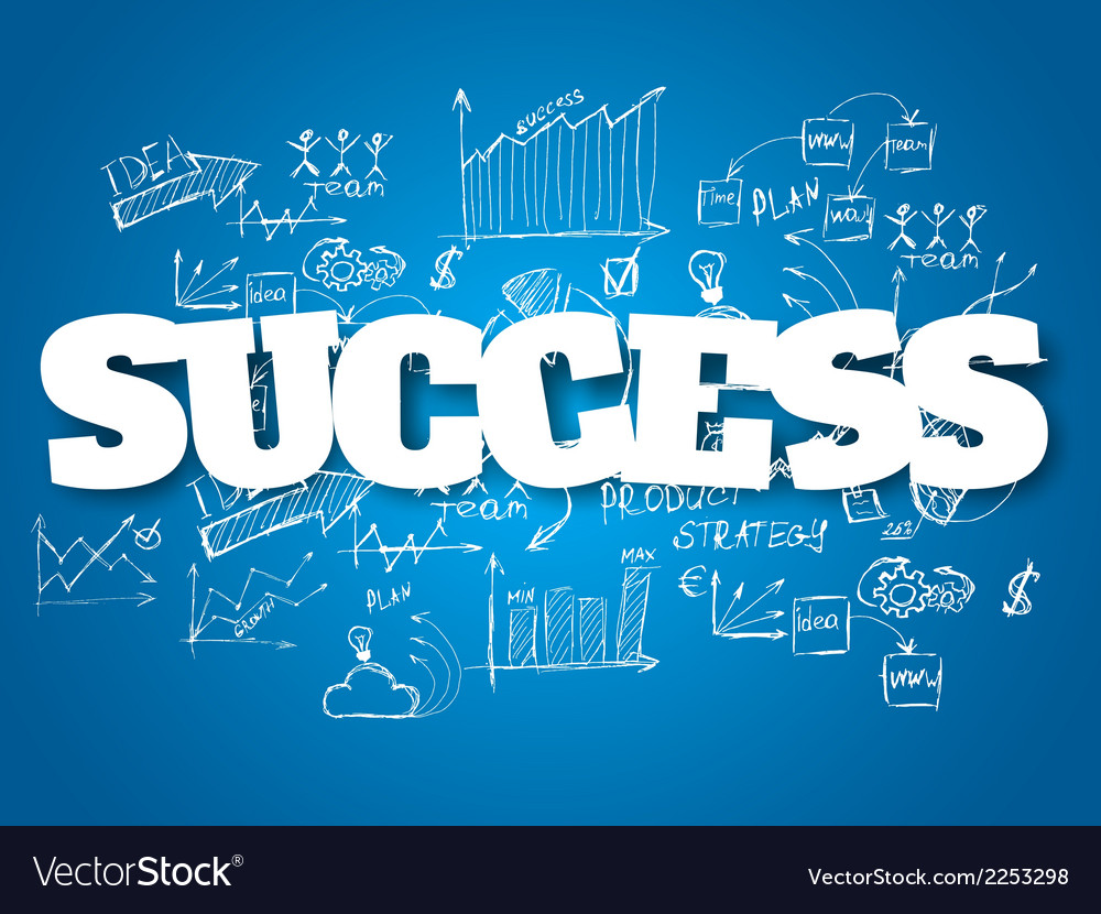 Business background success concept vector | Price: 1 Credit (USD $1)