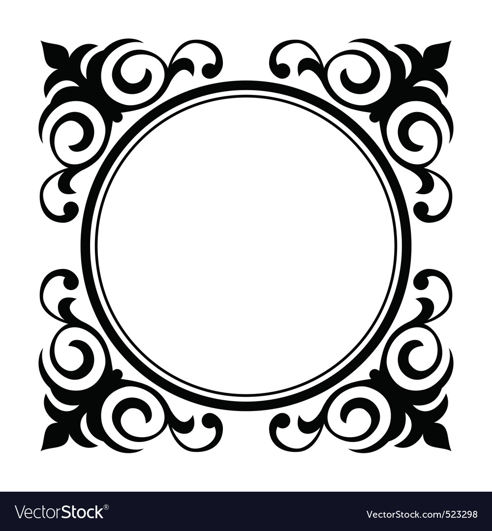 Circle ornamental decorative frame vector | Price: 1 Credit (USD $1)