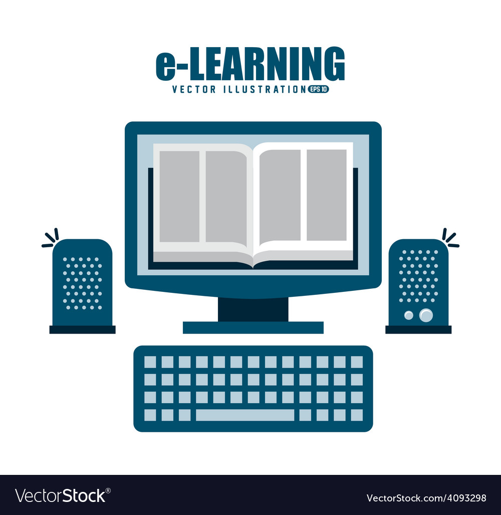 E-learning vector | Price: 1 Credit (USD $1)