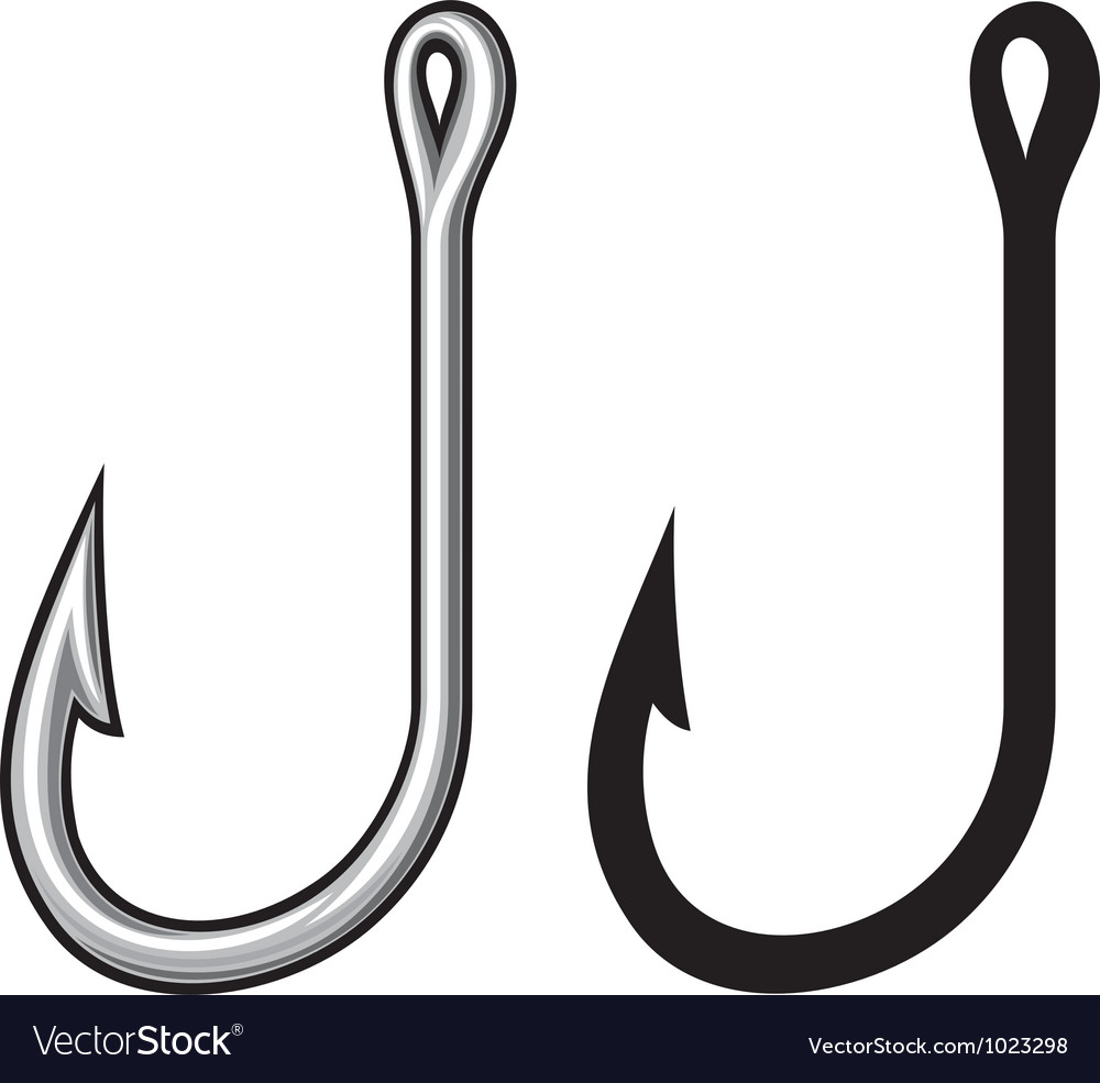 Fishing hook vector | Price: 1 Credit (USD $1)