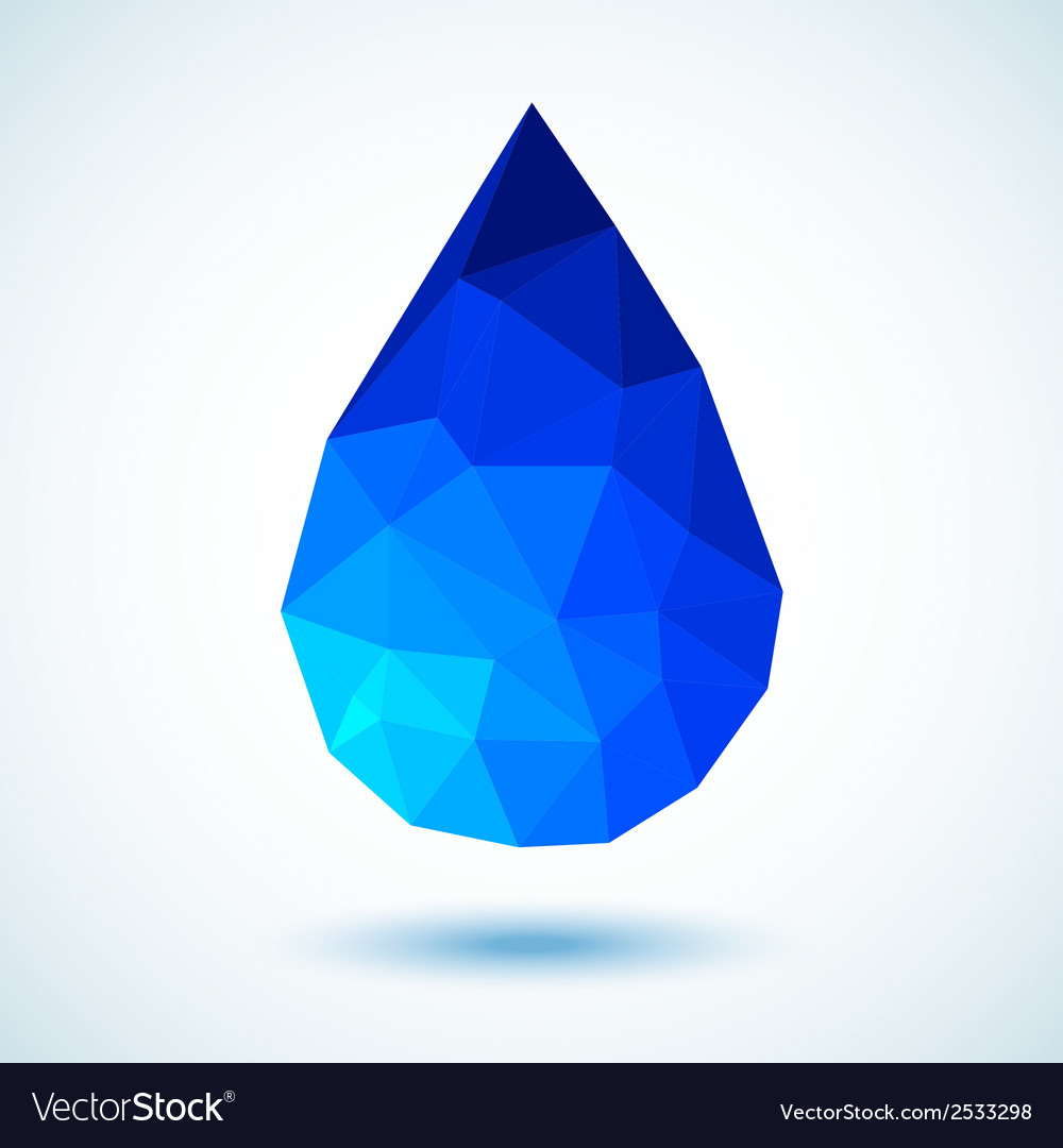 Geometric blue drop for your design vector | Price: 1 Credit (USD $1)