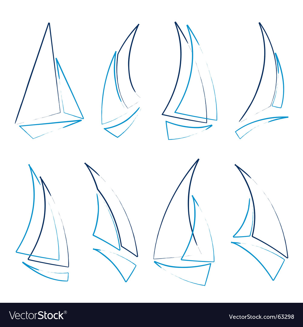 Sailboat icons vector | Price: 1 Credit (USD $1)