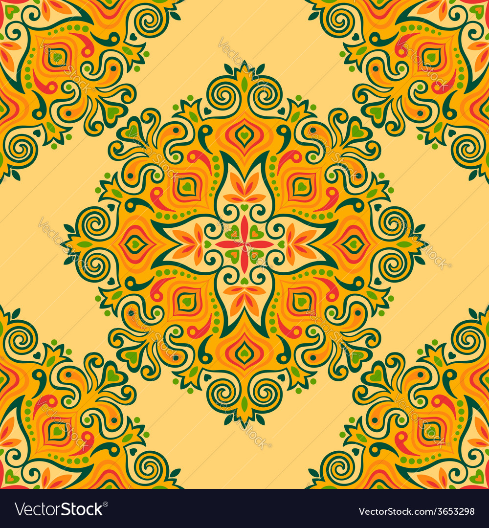 Seamless background with abstract ethnic pattern vector | Price: 1 Credit (USD $1)