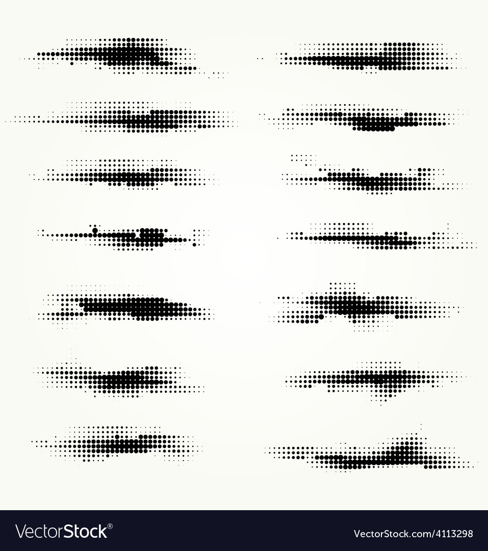 Set of horizontal spots halfton vector   Price: 1 Credit (USD $1)