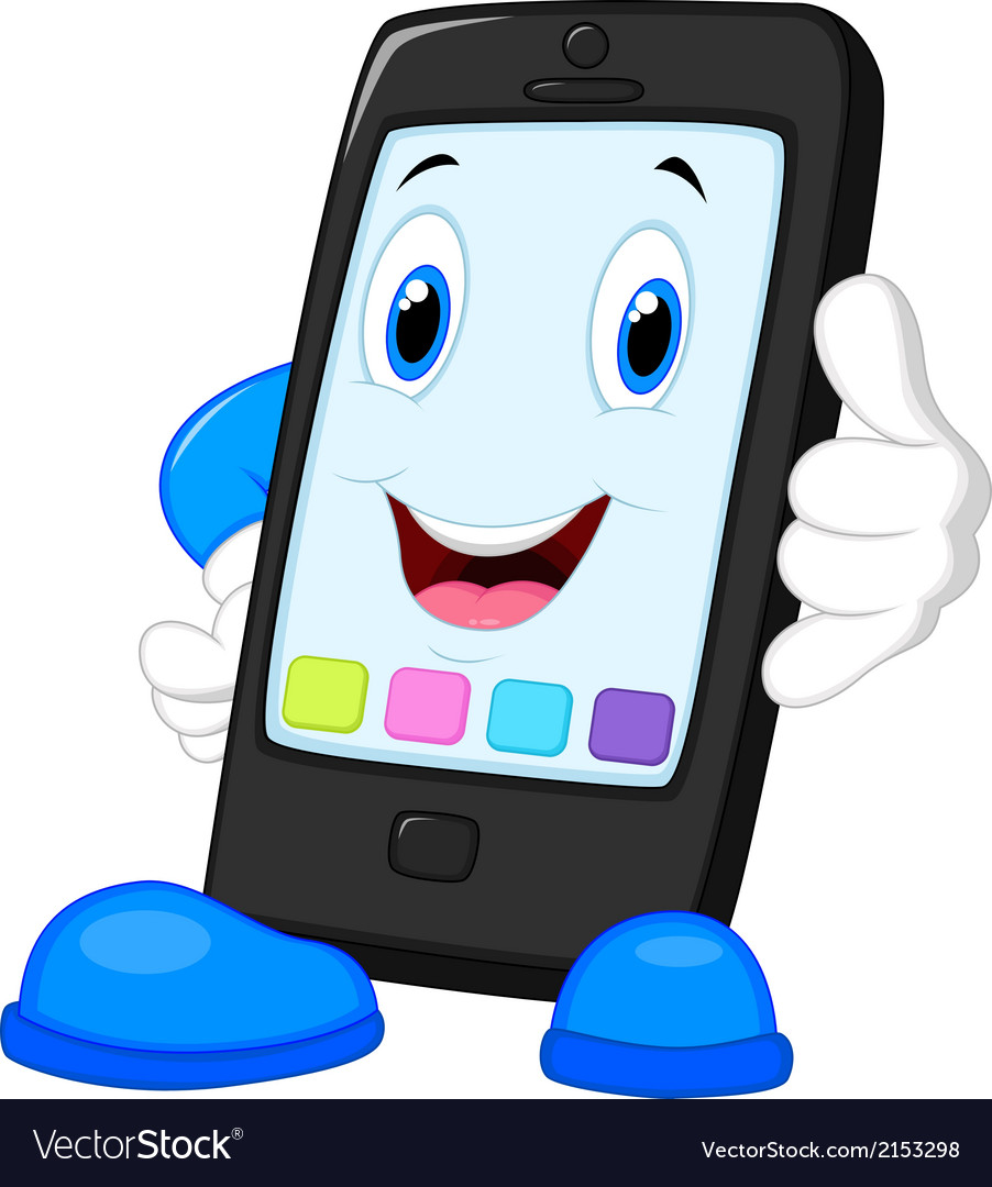 Smart phone cartoon calling vector | Price: 1 Credit (USD $1)