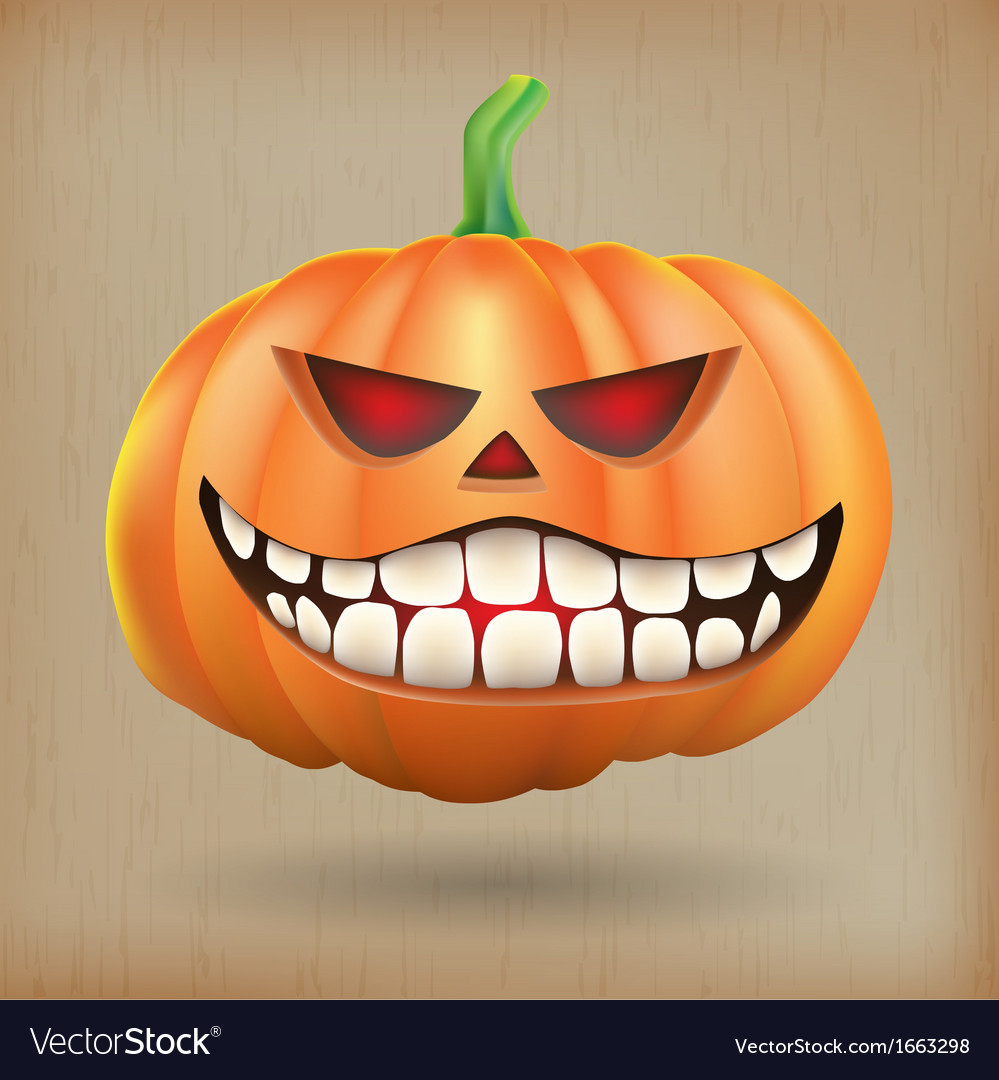 Sneer pumpkin vintage background vector | Price: 1 Credit (USD $1)