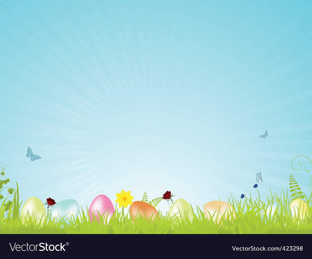 Tranquil easter background vector | Price: 1 Credit (USD $1)
