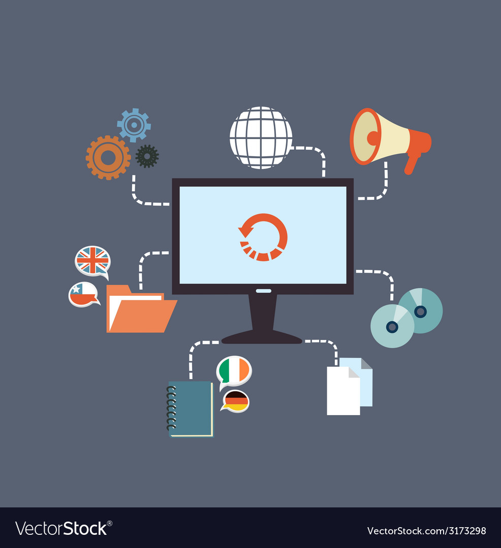 Working environment vector | Price: 1 Credit (USD $1)