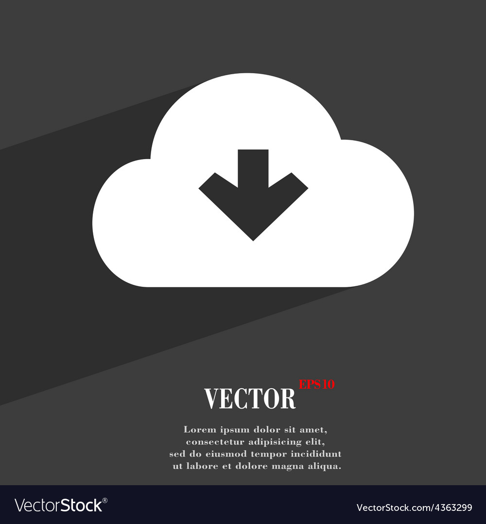 Download from cloud icon symbol flat modern web vector | Price: 1 Credit (USD $1)
