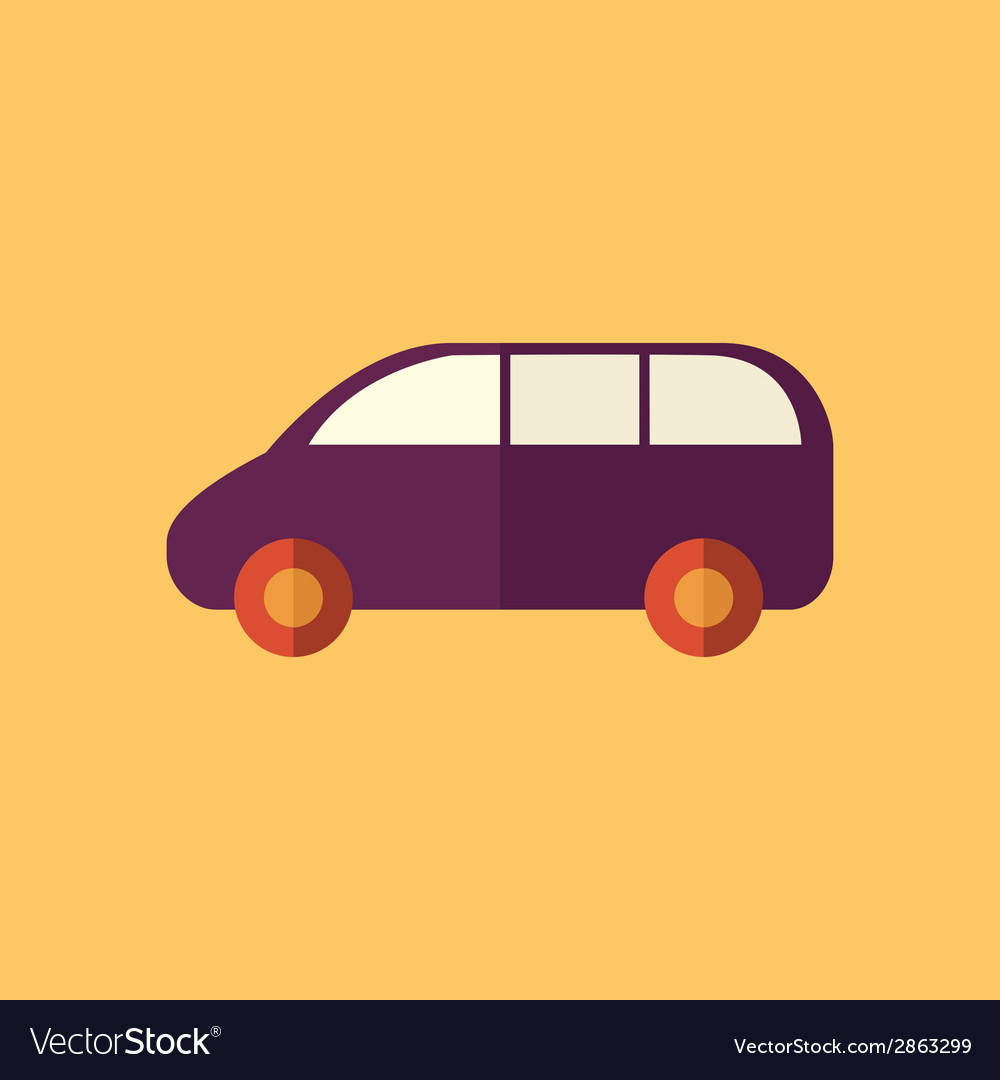 Family car transportation flat icon vector | Price: 1 Credit (USD $1)