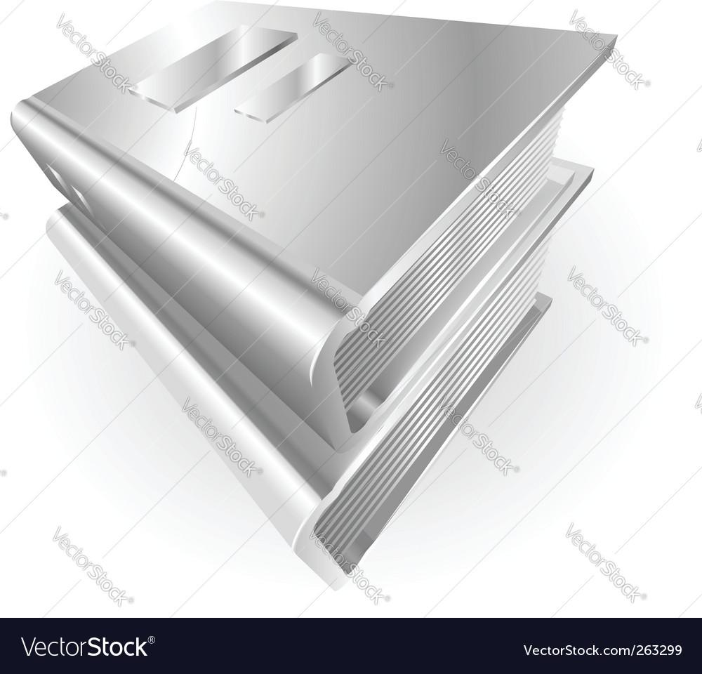 Metallic books vector | Price: 1 Credit (USD $1)
