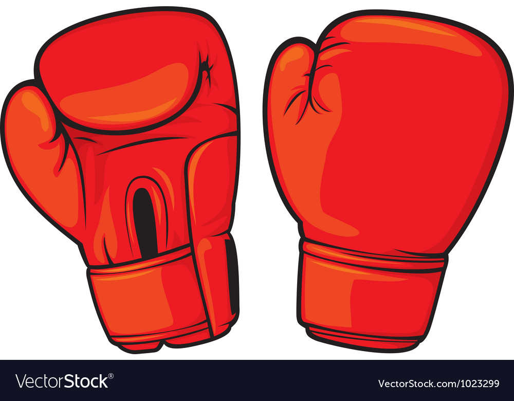 Red boxing gloves vector | Price: 1 Credit (USD $1)