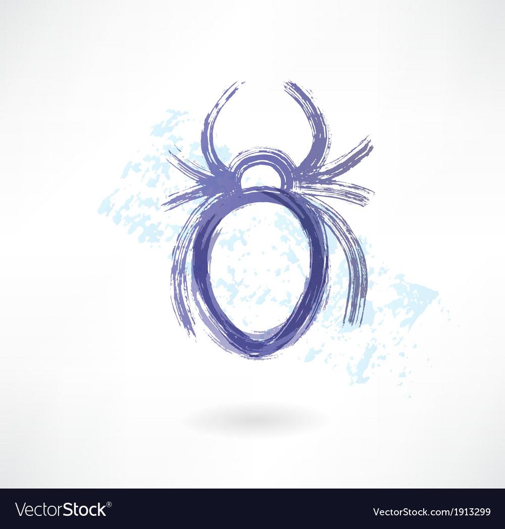 Spider grunge icon vector | Price: 1 Credit (USD $1)
