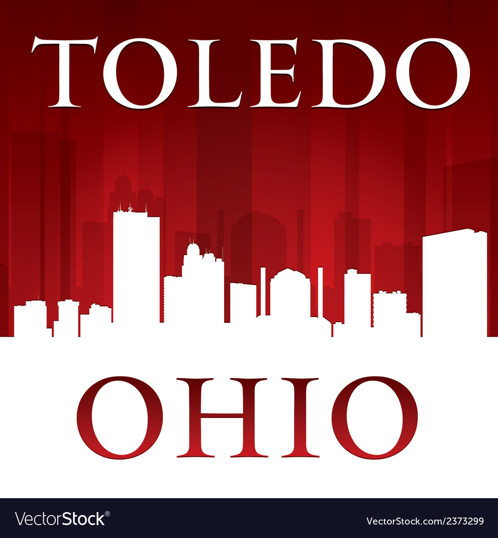 Toledo ohio city skyline silhouette vector | Price: 1 Credit (USD $1)