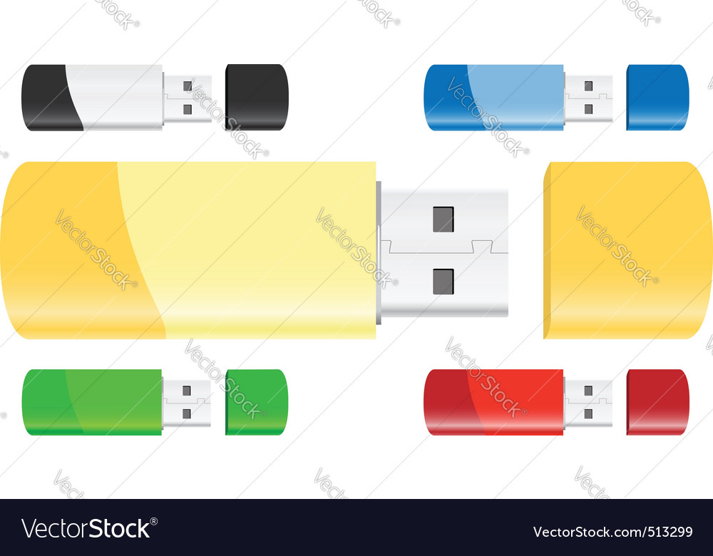 Usb flash drives vector | Price: 1 Credit (USD $1)
