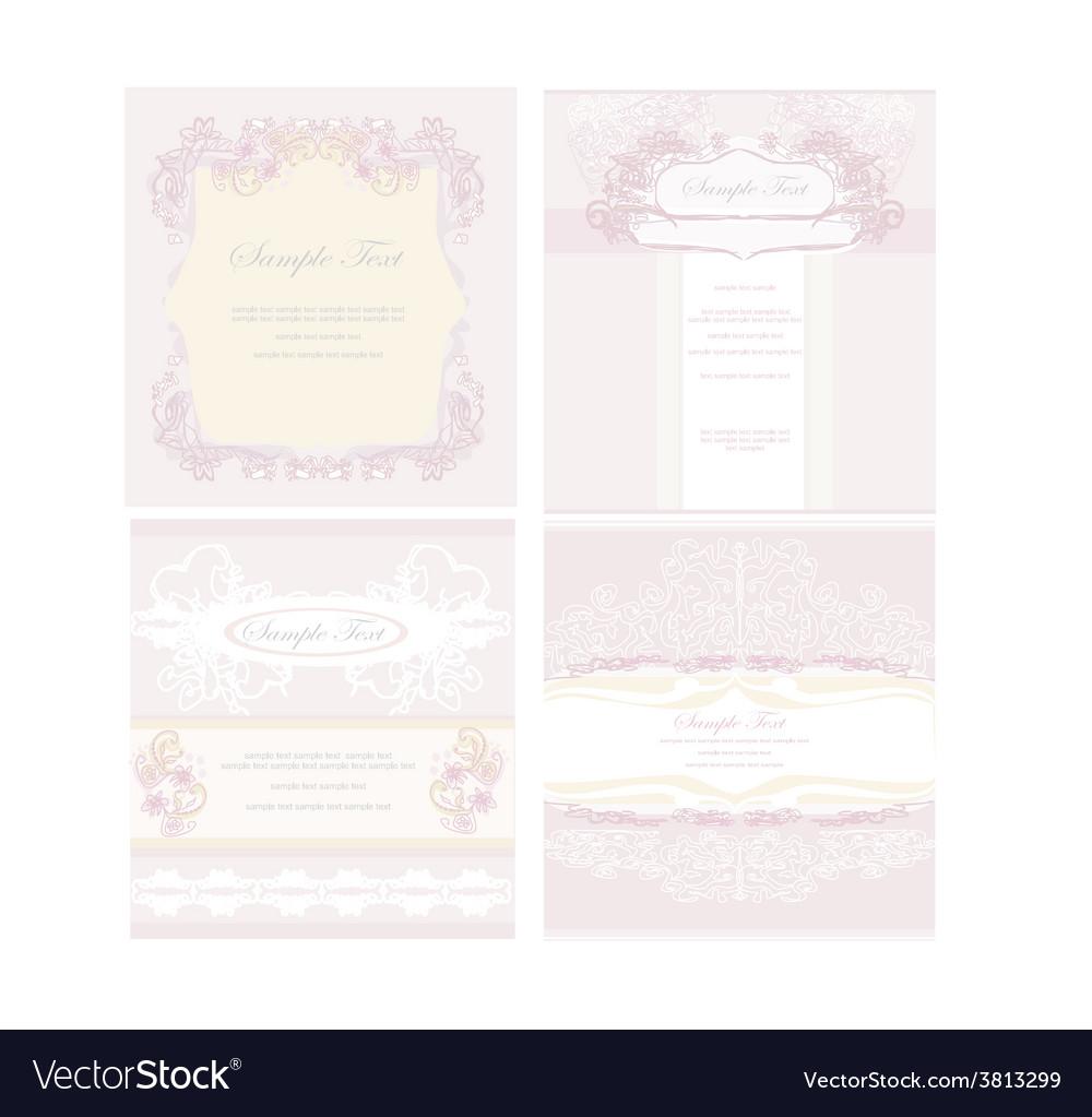 Wedding reception card set vector | Price: 1 Credit (USD $1)