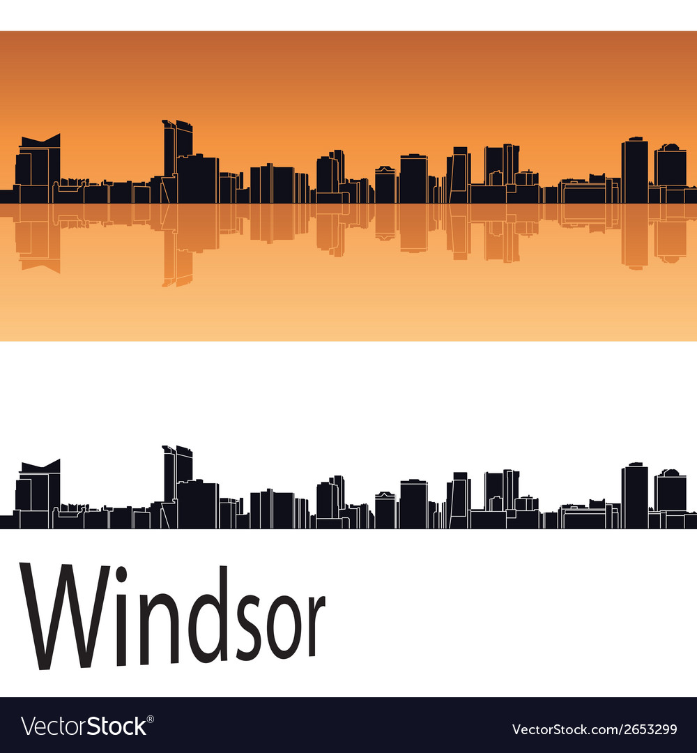 Windsor skyline vector | Price: 1 Credit (USD $1)