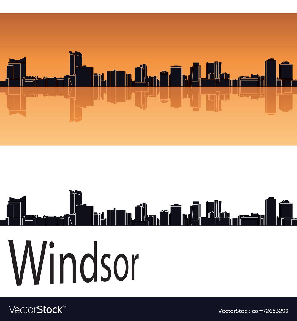 Windsor skyline vector | Price: 1 Credit (USD $1)