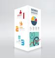 Modern box design infographic template minimal vector