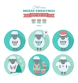 Holiday icons set with sheep in flat vector