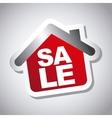 Sale house vector
