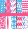 Set of 10 seamless love patterns vector