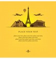 Historical sights vector