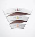 White ribbon vector