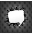 Metal background with speech bubble vector