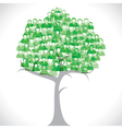 Green businessmen tree vector
