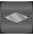 Metal rhombus frame vector